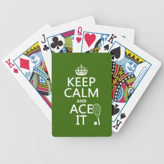 Guarde la calma y Ace la el tenis en cualquier Barajas