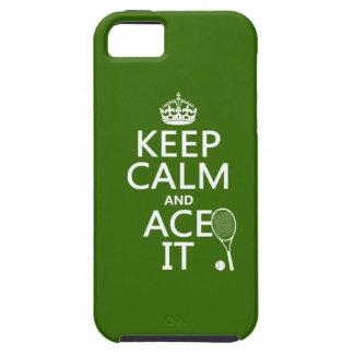 Guarde la calma y Ace la (el tenis) (en cualquier Funda Para iPhone SE/5/5s