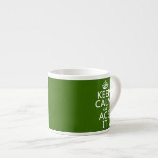 Guarde la calma y Ace la (el tenis) (en cualquier  Tazita Espresso