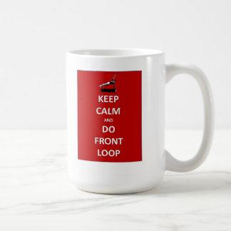 Guarde la calma y afronte el lazo taza