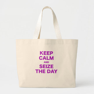 Guarde la calma y agarre el día bolsa de mano