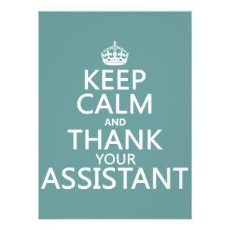 Guarde la calma y agradezca a su ayudante - en cua anuncios personalizados