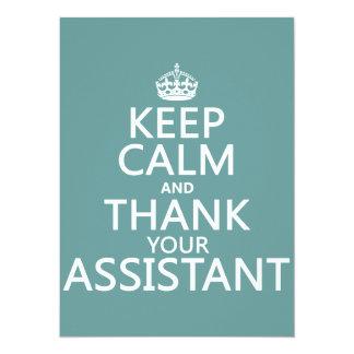 """Guarde la calma y agradezca a su ayudante - en invitación 5.5"""" x 7.5"""""""
