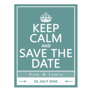 Guarde la calma y ahorre la fecha completamente a postales