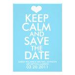 Guarde la calma y ahorre la fecha anuncio personalizado