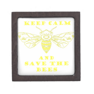 Guarde la calma y ahorre las abejas caja de regalo de calidad