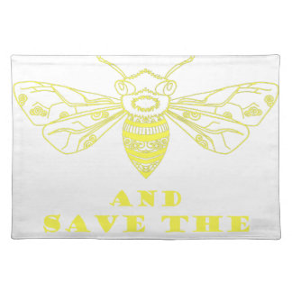 Guarde la calma y ahorre las abejas manteles individuales