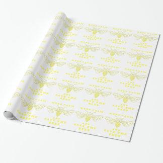 Guarde la calma y ahorre las abejas papel de regalo