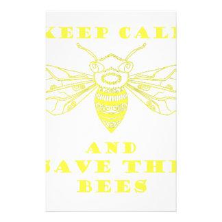 Guarde la calma y ahorre las abejas papeleria