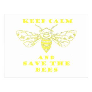 Guarde la calma y ahorre las abejas postales