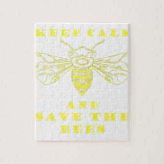 Guarde la calma y ahorre las abejas rompecabeza