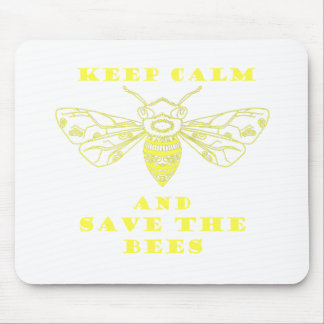 Guarde la calma y ahorre las abejas tapete de raton