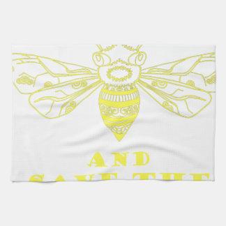 Guarde la calma y ahorre las abejas toallas