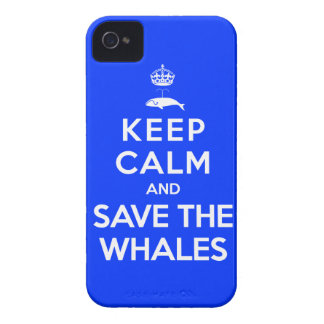 Guarde la calma y ahorre las ballenas Case-Mate iPhone 4 carcasas