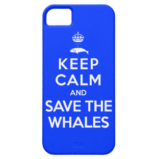 Guarde la calma y ahorre las ballenas iPhone 5 fundas