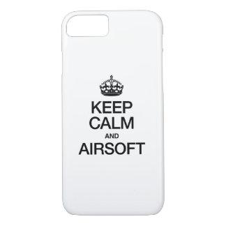 GUARDE LA CALMA Y AIRSOFT FUNDA iPhone 7