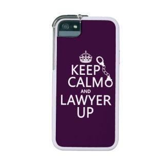 Guarde la calma y al abogado para arriba (cualquie