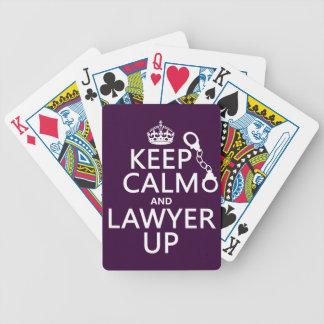 Guarde la calma y al abogado para arriba (cualquie baraja cartas de poker