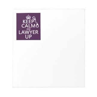 Guarde la calma y al abogado para arriba (cualquie libreta para notas