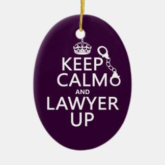 Guarde la calma y al abogado para arriba cualquie adornos