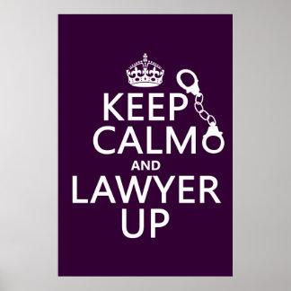 Guarde la calma y al abogado para arriba (cualquie posters