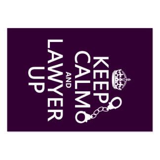 Guarde la calma y al abogado para arriba (cualquie plantilla de tarjeta de visita