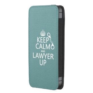 Guarde la calma y al abogado para arriba funda para iPhone 5
