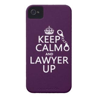 Guarde la calma y al abogado para arriba iPhone 4 protectores