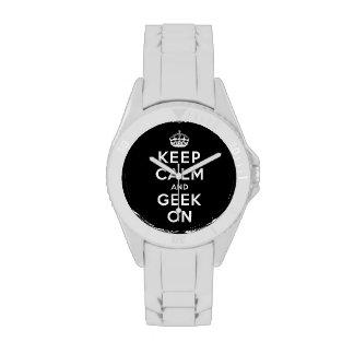 Guarde la calma y al friki encendido reloj