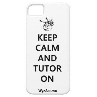Guarde la calma y al profesor particular en el iPhone 5 carcasa
