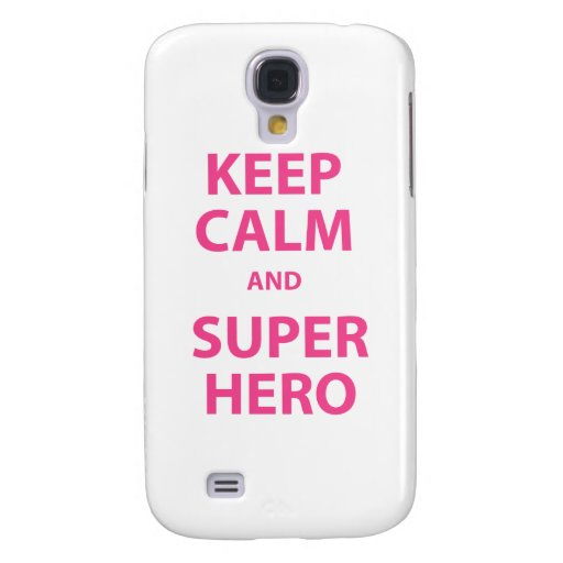 Guarde la calma y al super héroe