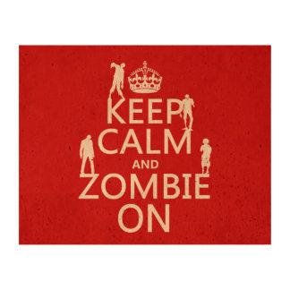 Guarde la calma y al zombi en (en cualquier color) impresión en corcho