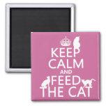 Guarde la calma y alimente el gato imán