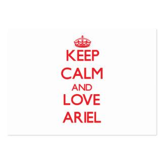 Guarde la calma y ame a Ariel Tarjetas De Negocios