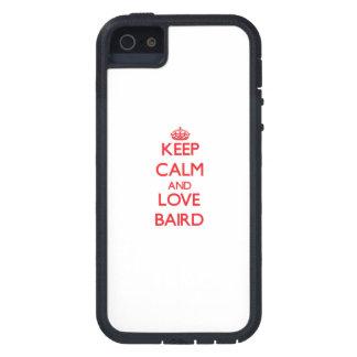 Guarde la calma y ame a Baird iPhone 5 Case-Mate Protector