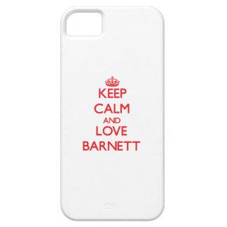 Guarde la calma y ame a Barnett iPhone 5 Funda