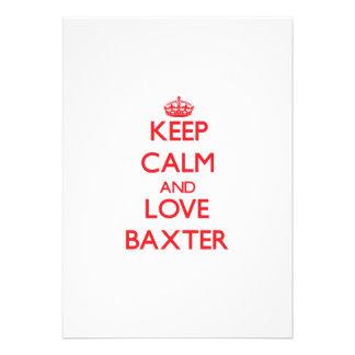 Guarde la calma y ame a Baxter Invitacion Personalizada