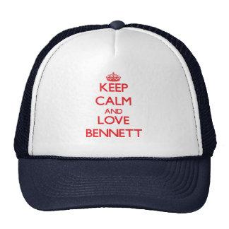 Guarde la calma y ame a Bennett Gorro