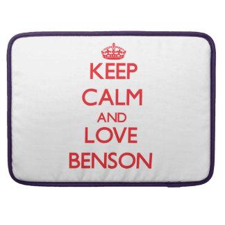 Guarde la calma y ame a Benson Fundas Para Macbook Pro
