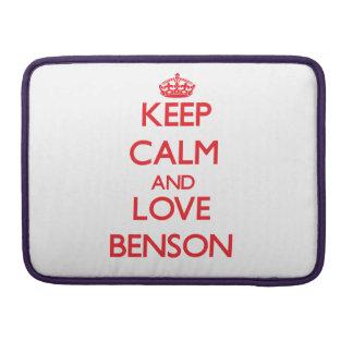 Guarde la calma y ame a Benson Fundas Macbook Pro