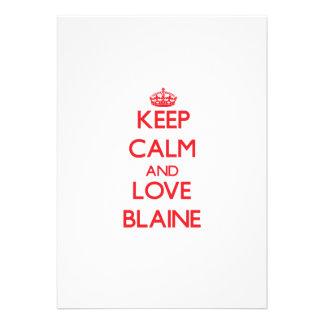 Guarde la calma y ame a Blaine Anuncio Personalizado