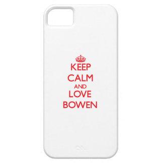 Guarde la calma y ame a Bowen iPhone 5 Carcasas