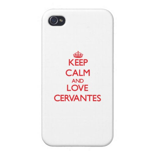 Guarde la calma y ame a Cervantes iPhone 4/4S Funda