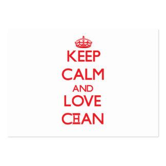 Guarde la calma y ame a Chan Plantilla De Tarjeta De Visita