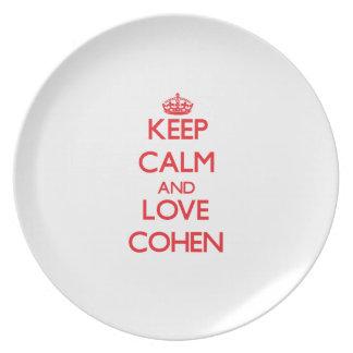 Guarde la calma y ame a Cohen Plato