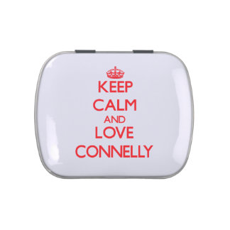 Guarde la calma y ame a Connelly Latas De Dulces