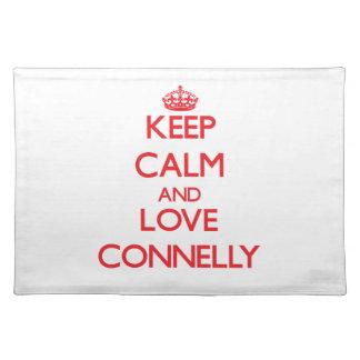 Guarde la calma y ame a Connelly Manteles