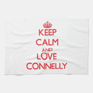 Guarde la calma y ame a Connelly Toalla