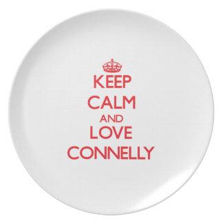 Guarde la calma y ame a Connelly Plato