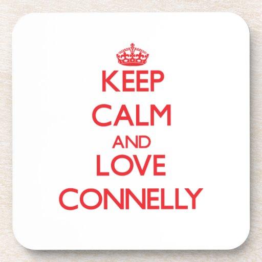 Guarde la calma y ame a Connelly Posavasos De Bebidas
